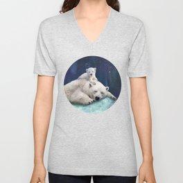 Polar Bears Unisex V-Neck