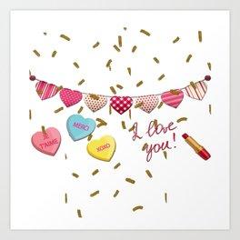 French Love  Je Taime Art Print