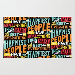 THE HAPPIEST PEOPLE x typography Rug