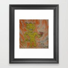 Yattering Framed Art Print