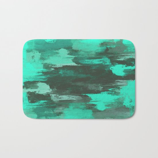 Chill Factor - Abstract in blue Bath Mat