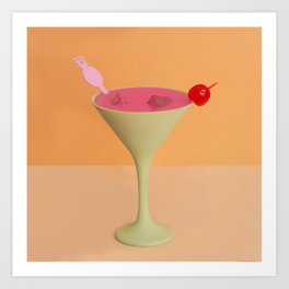 Pink Daiquiri Art Print