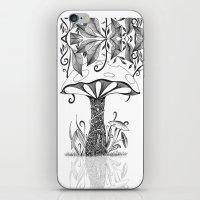 mushroom iPhone & iPod Skins featuring Mushroom by ink10 Designs