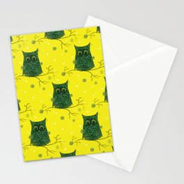 Owl On A Branch Stationery Cards