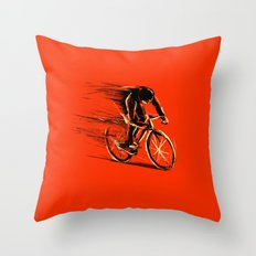 BikeCycling Throw Pillow