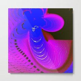 Blue Leaf Clover Metal Print