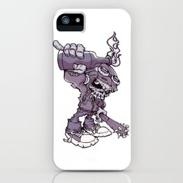 Anarchy Skeleton - Amethyst Smoke iPhone Case