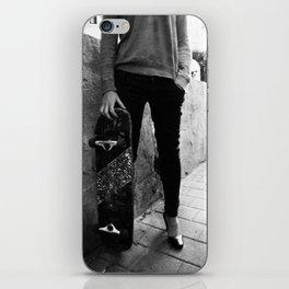 SkateBoard Girl iPhone Skin
