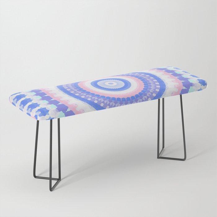 Pastel mandala Bench
