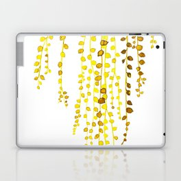 String of pearls #1 in yellow Laptop & iPad Skin