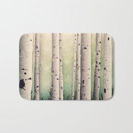 Birch wood at Midsummer Bath Mat
