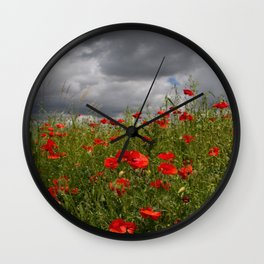 Poppies 2 Wall Clock