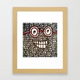 Blockhead # 5 - AKA Waldo Framed Art Print