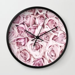 Blush Roses Wall Clock