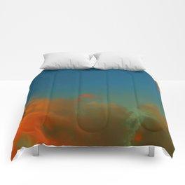 Orange and Blue Skies Comforters