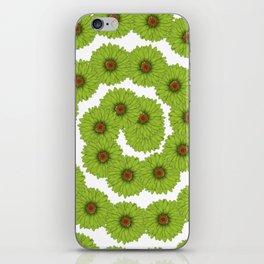Flores verdes iPhone Skin