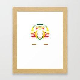 Rasta Lion Jamaican Reggae Music Rasta Framed Art Print