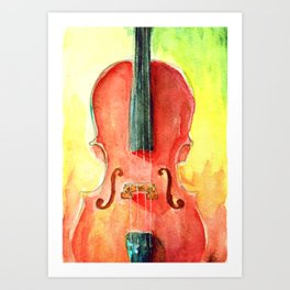 Cello in Red Art Print