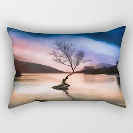 Llanberis Lake Tree Rectangular Pillow