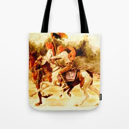 Horses and People No.1 Tote Bag