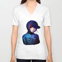 manga V-neck T-shirts featuring Manga by IOSQ