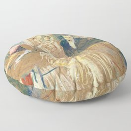 """Henri de Toulouse-Lautrec """"Au Bal masqué de l'Elysée Montmartre"""" Floor Pillow"""
