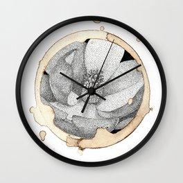 Coffee Stain Magnolia Flower-Louisiana Series Wall Clock