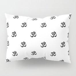 Black and White OM Pattern Pillow Sham