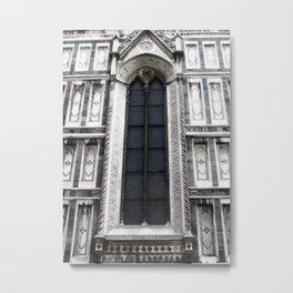 SANTA MARIA DEL FIORE FIRENZE DUOMO WINDOW DETAIL Metal Print