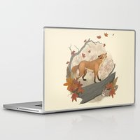 rabbit Laptop & iPad Skins featuring Fox and rabbit by Laura Graves