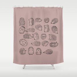 hedge hogs Shower Curtain