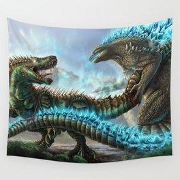 Godzilla VS. Atomic Rex Wall Tapestry