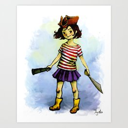 La Pirate Art Print