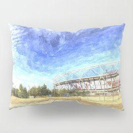 West Ham Olympic Stadium And The Arcelormittal Orbit Art Pillow Sham