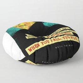 Neil Gaiman Quote Floor Pillow