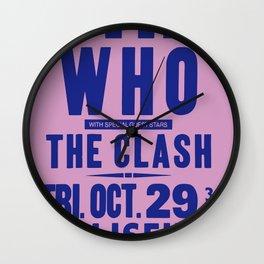 Los Angeles Concert 1982 Wall Clock
