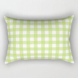 Green gingham pattern Rectangular Pillow