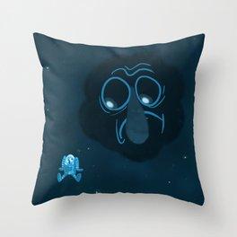 The Suspicious Void Throw Pillow