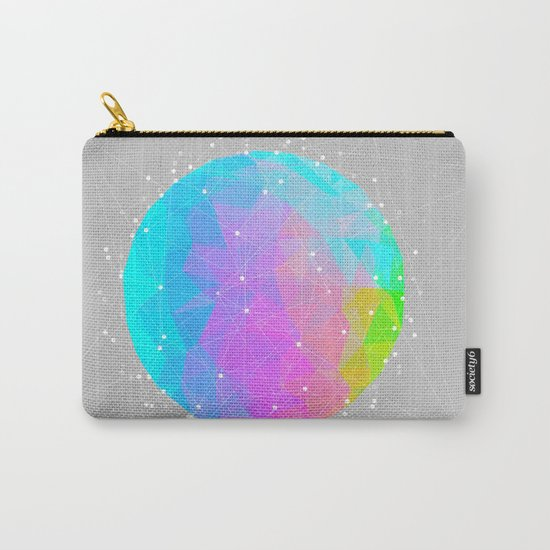 The Dots Will Somehow Connect (Geometric Sphere) Carry-All Pouch