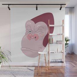 Gorilla's Face Wall Mural