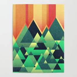 Summer Mountains Poster