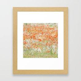 Flowers on the field Framed Art Print