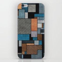 Random Concrete Pattern - Blue, Grey, Brown iPhone Skin