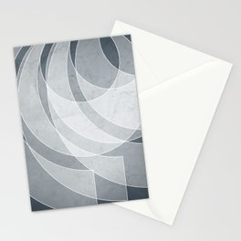Orbiting Lace in Peninsula Blue Tones Stationery Cards