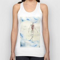 attack on titan Tank Tops featuring Titan by Sandra Grippi