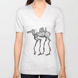 Chirping Mule Unisex V-Neck