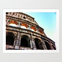 Colosseum lights Art Print