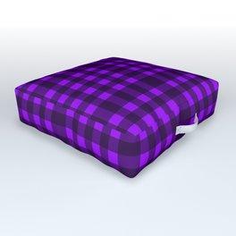 Purple plaid Outdoor Floor Cushion