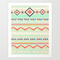 native Art Prints featuring Native by Nika