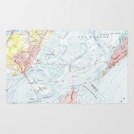 Vintage Map of Ocean City NJ (1952) Rug